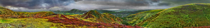 Long Mynd zoomed out - colourful - 7 foot 8 inches long