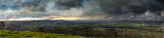 Ludlow view from Titterstone Clee - darker