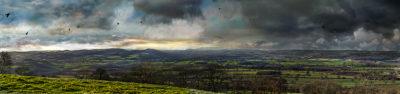 Ludlow view from Titterstone Clee - darker