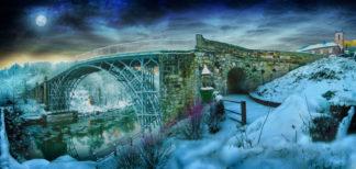 Ironbridge on Christmas Eve darker chunkier