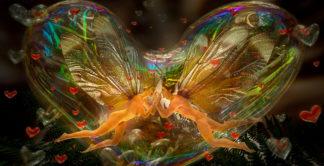 Love bubble fairies bright
