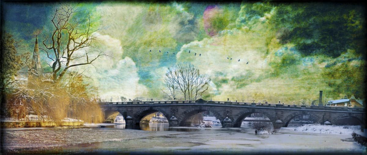 Shrewsbury the English Bridge colours but no stars nor fairies