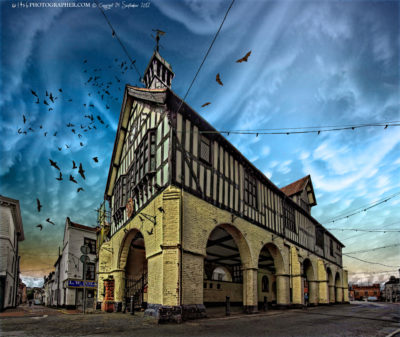 Bridgnorth Town Hall and Market and bats