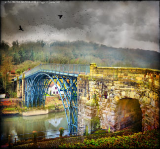 Ironbridge painted blue
