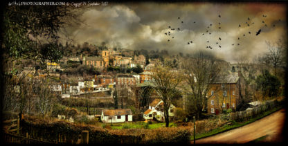 Ironbridge a view over bridge and town