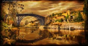 Ironbridge with the good fairy and the bad fairy