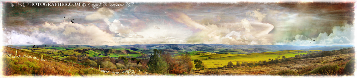 Long Mynd and white borders