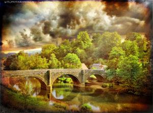 Ludlow Dinham Bridge and the white lady