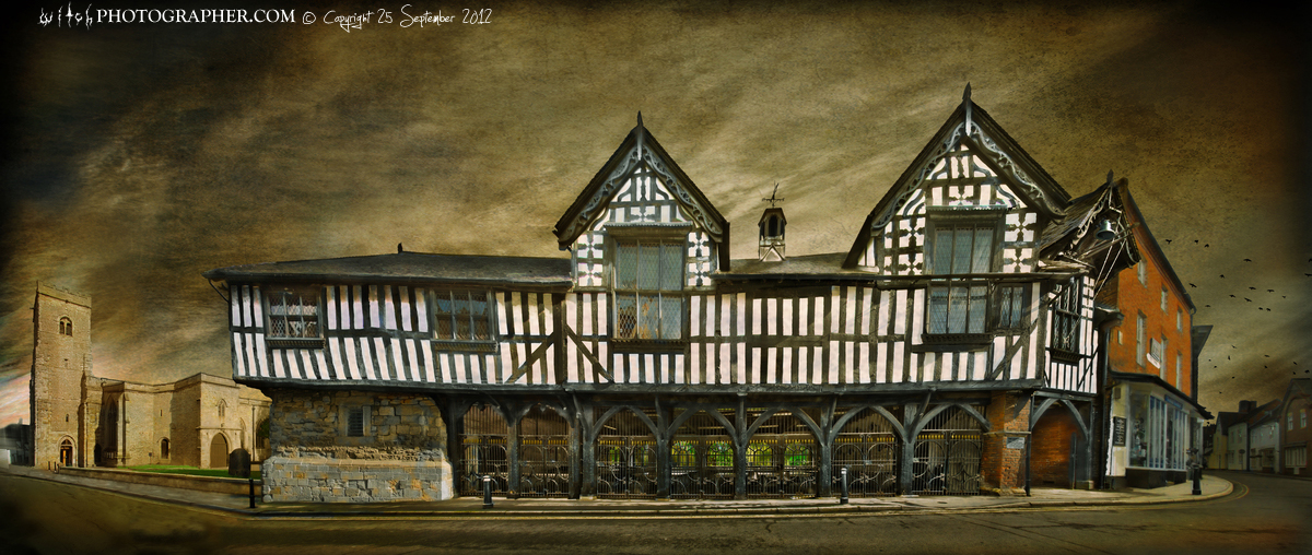 Much Wenlock Town Hall and Market
