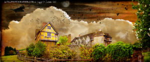 Stokesay Castle and the monster raven