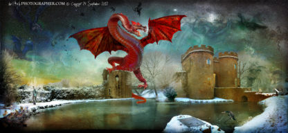 Whittington Castle a meeting place for dragons