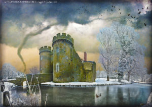 Whittington Castle and tornado