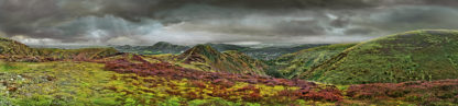 Long Mynd to Church Stretton - zoomed out - desat