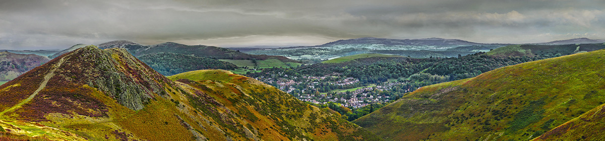Long Mynd - close up - Church Stretton centred