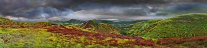 Long Mynd to Church Stretton - zoomed out - colourful