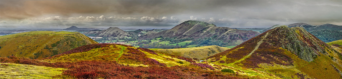 Long Mynd - close up - The Wrekin to Caradoc