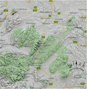 Church Stretton 2d map