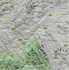 Hay on Wye 2d map