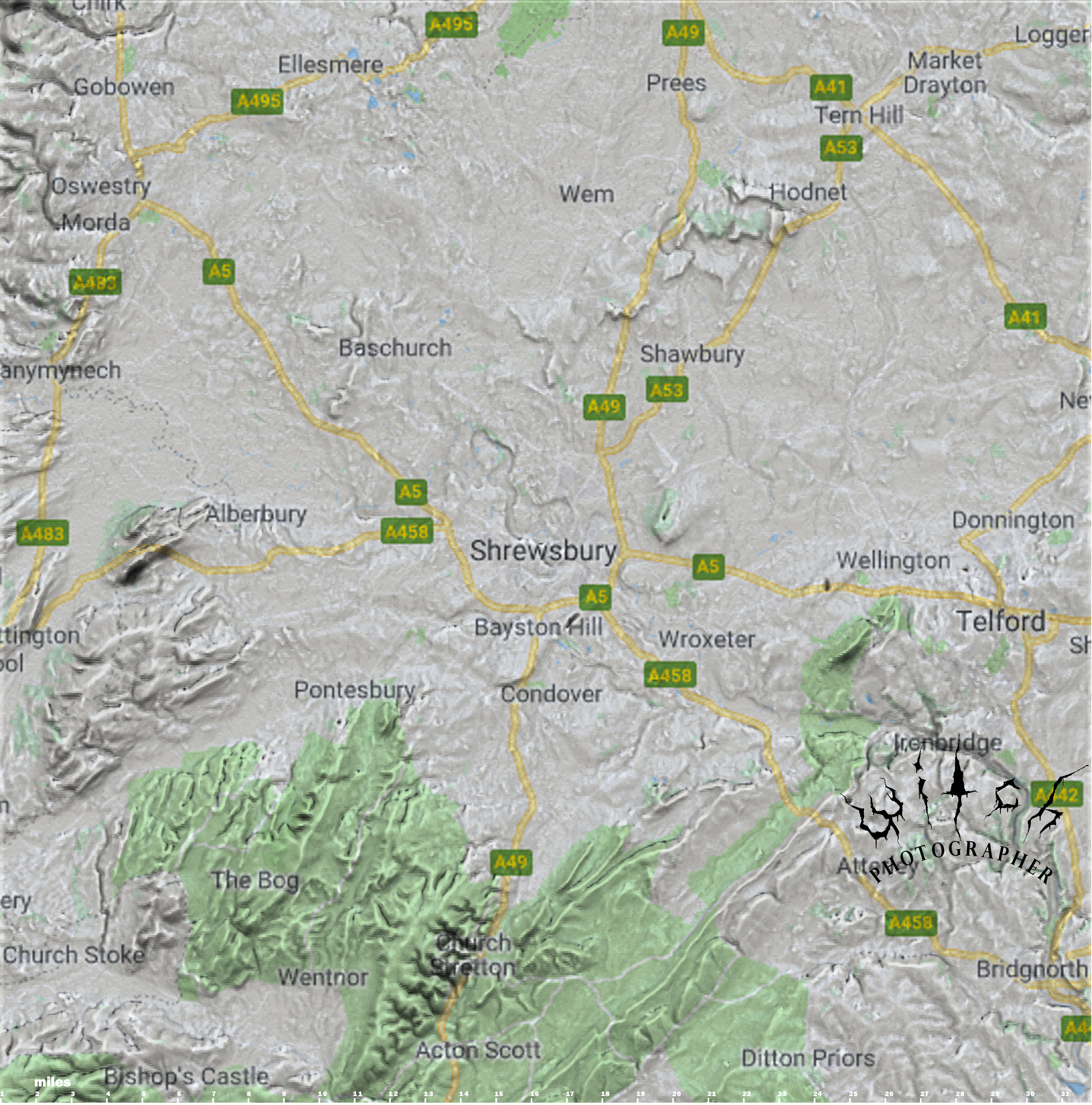 Maps - Shrewsbury