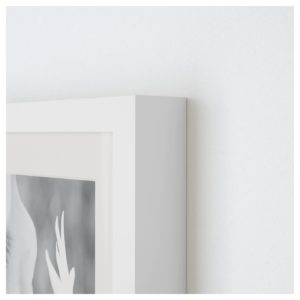 A white modern Ikea frame